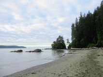 Les plages de la côte ouest traînent, île de Vancouver, les Anglais Colum photo stock
