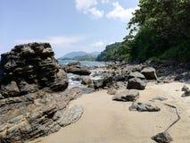 Les plages les plus belles du monde - partie à distance d'Abra de Ilog, Mindoro, Philippines photo libre de droits