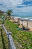Les plages-Pontal brésiliennes font Coruripe, Alagoas Images stock