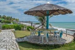 Les plages-Pontal brésiliennes font Coruripe, Alagoas Images libres de droits