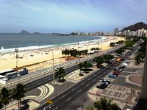 Les plages sablonneuses d'or du Brésil à Rio Photos libres de droits