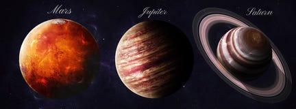 Les planètes de système solaire ont tiré de l'apparence de l'espace photo stock