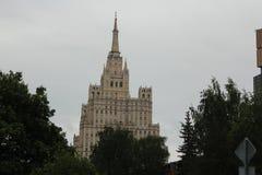 Les planchers supérieurs des zones résidentielles ayant beaucoup d'étages sur Kudrinskaya Photographie stock