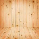 Les planches en bois de grands planchers bruns donnent au papier peint une consistance rugueuse de fond Photo libre de droits