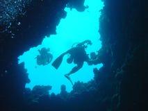 Les plongeurs monte photo libre de droits