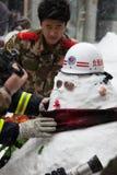 Les plus grandes chutes de neige en 60 ans. Pékin, Chine Photo stock