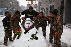 Les plus grandes chutes de neige en 60 ans. Pékin, Chine Photographie stock libre de droits