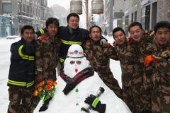 Les plus grandes chutes de neige en 60 ans, Pékin, Chine. Image stock