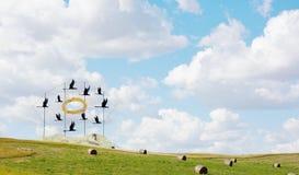 Les plus grands geeses du monde du Dakota du Nord Images stock