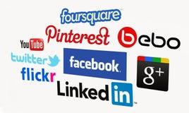 Médias sociaux Image stock
