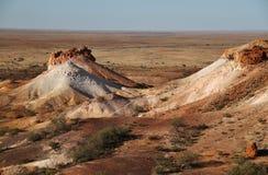 Les points d'interruption Bredouillez les plaines et les puits de mica de l'Australie du sud Photos libres de droits