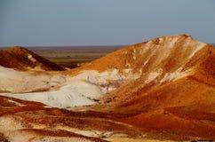 Les points d'interruption Bredouillez les plaines et les puits de mica de l'Australie du sud Image libre de droits