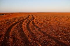 Les points d'interruption Bredouillez les plaines et les puits de mica de l'Australie du sud Photo libre de droits