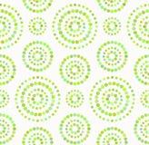 Les points entoure le modèle sans couture aux nuances du vert illustration de vecteur