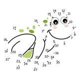 Les points, la grenouille illustration de vecteur
