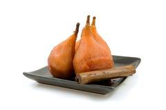 Les poires cuisent en four photos stock