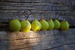 Les poires se ferment vers le haut Photo stock