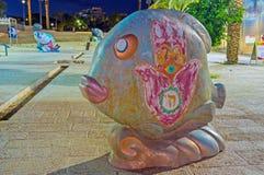 Les poissons avec le hamsa Image stock