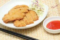 les poissons délicieux ont préparé le bifteck photographie stock libre de droits