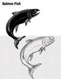 Les poissons dirigent à la main le dessin Photos stock