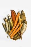les poissons ont fumé Photos libres de droits