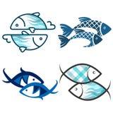 Les poissons silhouettent l'ensemble Illustration Libre de Droits