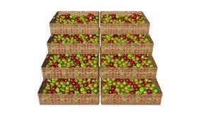 Les pommes dans le panier Photo libre de droits