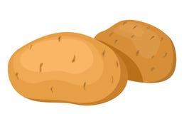 Les pommes de terre. Image libre de droits