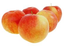 les pommes ont isolé le rouge Photos stock