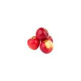 les pommes quatre ont isolé le blanc rouge Photos stock
