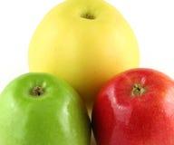 Les pommes se ferment vers le haut Photo libre de droits