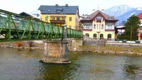 Les ponts de mauvais Ischl, Autriche banque de vidéos