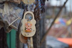Les porte-clés photo stock
