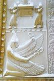 les portes égyptiennes neigent dessous Photo stock