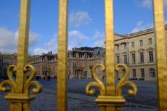 Les portes d'or de Versailles Photos libres de droits