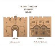 Les portes de Jérusalem, Lion Gate, Golden Gate Photographie stock