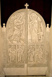 Les portes de l'autel d'une église orthodoxe Image stock
