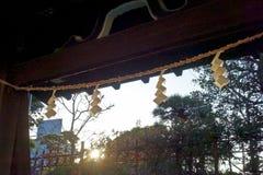 Les portes du temple décoré Photographie stock libre de droits