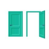 Les portes fermées et s'ouvrent Photo libre de droits