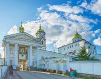 Les portes saintes de Pochayiv Lavra Images libres de droits