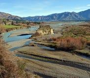 Les portées supérieures de la rivière de Waiau, Cantorbéry du nord Photographie stock libre de droits