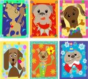 Les portraits drôles des chiens Image stock