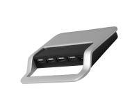 Les ports USB de l'ordinateur photo libre de droits