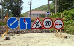 Les poteaux de signalisation. Photographie stock