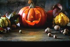 Les potirons de Halloween Photos libres de droits