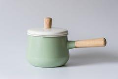 Les pots émaux par vert Image stock