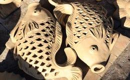 Les pots en céramique, pots d'argile fleurissent, village de travail manuel de Thanh Ha, Hoi An, Vietnam Photo libre de droits