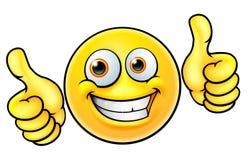 Les pouces heureux lèvent l'émoticône d'Emoji illustration stock