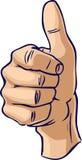 Les pouces lèvent le geste de main Image stock