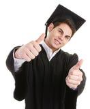 Les pouces reçoivent un diplôme vers le haut Image libre de droits